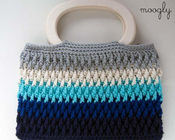 Crochet Purse Patterns Free Easy : Como hacer un bolso de ganchillo f?cil paso a paso