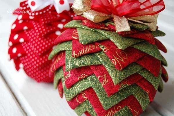Manualidades para decorar con telas muebles accesorios y m s - Como hacer bolas para el arbol de navidad ...