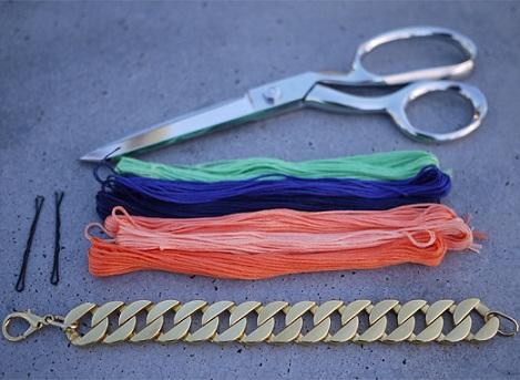 pulseras-de-colores-materiales