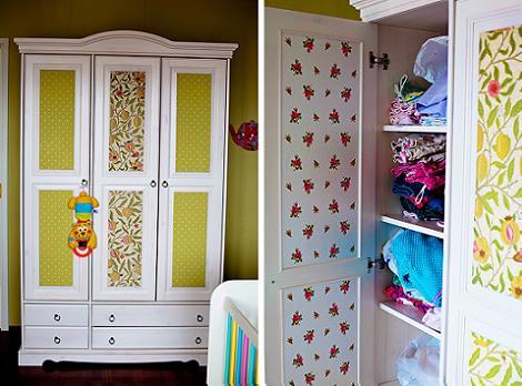 Ideas para empapelar un armario por fuera y por dentro - Decorar puertas de armario ...