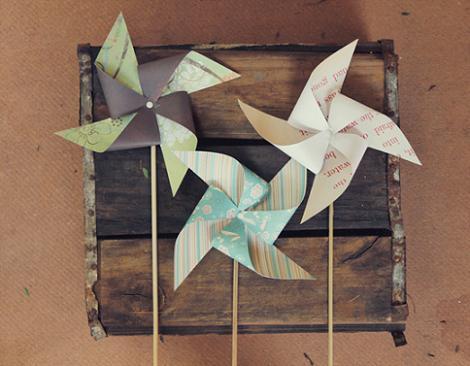 Molinillos de papel caseros