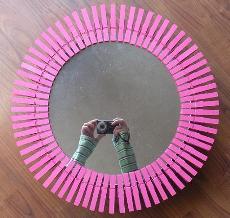Decorar espejo con pinzas - Como decorar un espejo ...