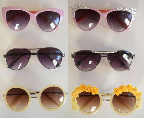 gafas de sol diy decoradas