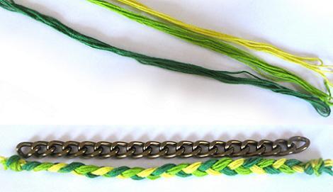 hacer pulseras de hilo y strass