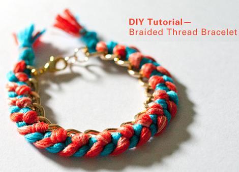 hacer pulseras de hilos con cadena