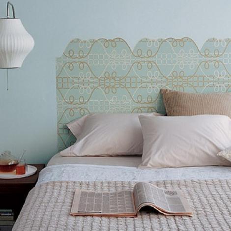 Manualidades cabecero de papel pintado for Cabeceros de cama con papel pintado