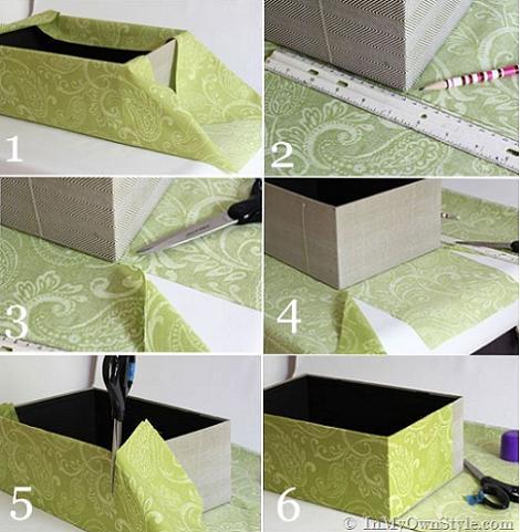 Forrar cajas con tela - Como forrar una caja con tela ...