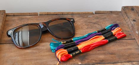 decorar-gafas-de-sol-con-hilos-materiales