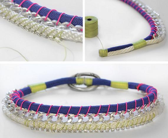 continuación, decora el collar con la tira de strass que lo tienes ...
