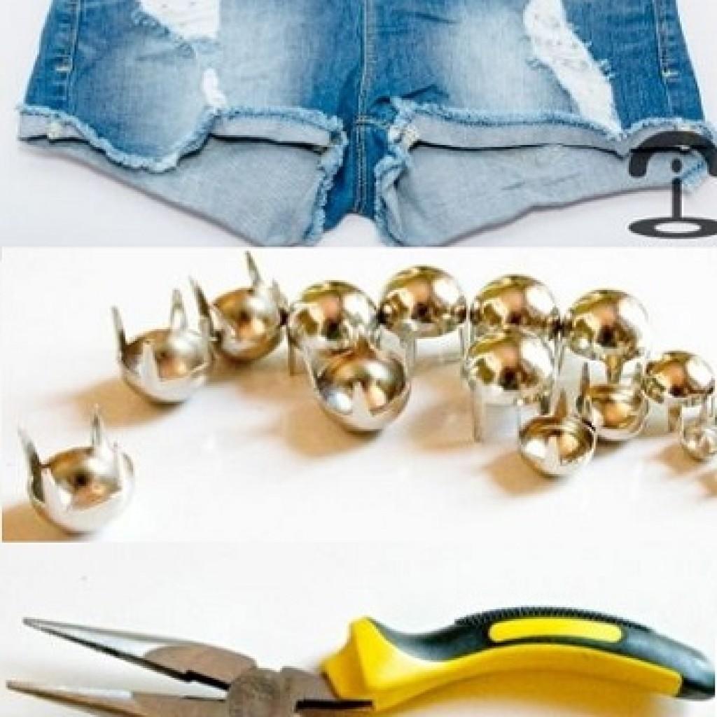 customizar-pantalones-short-tachas-materiales