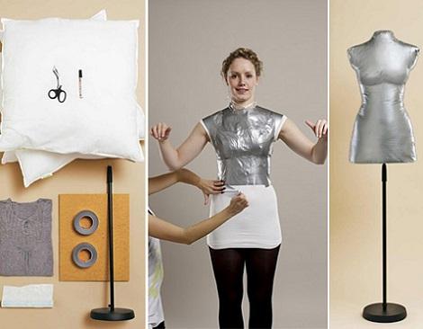 hacer maniqui casero ropa