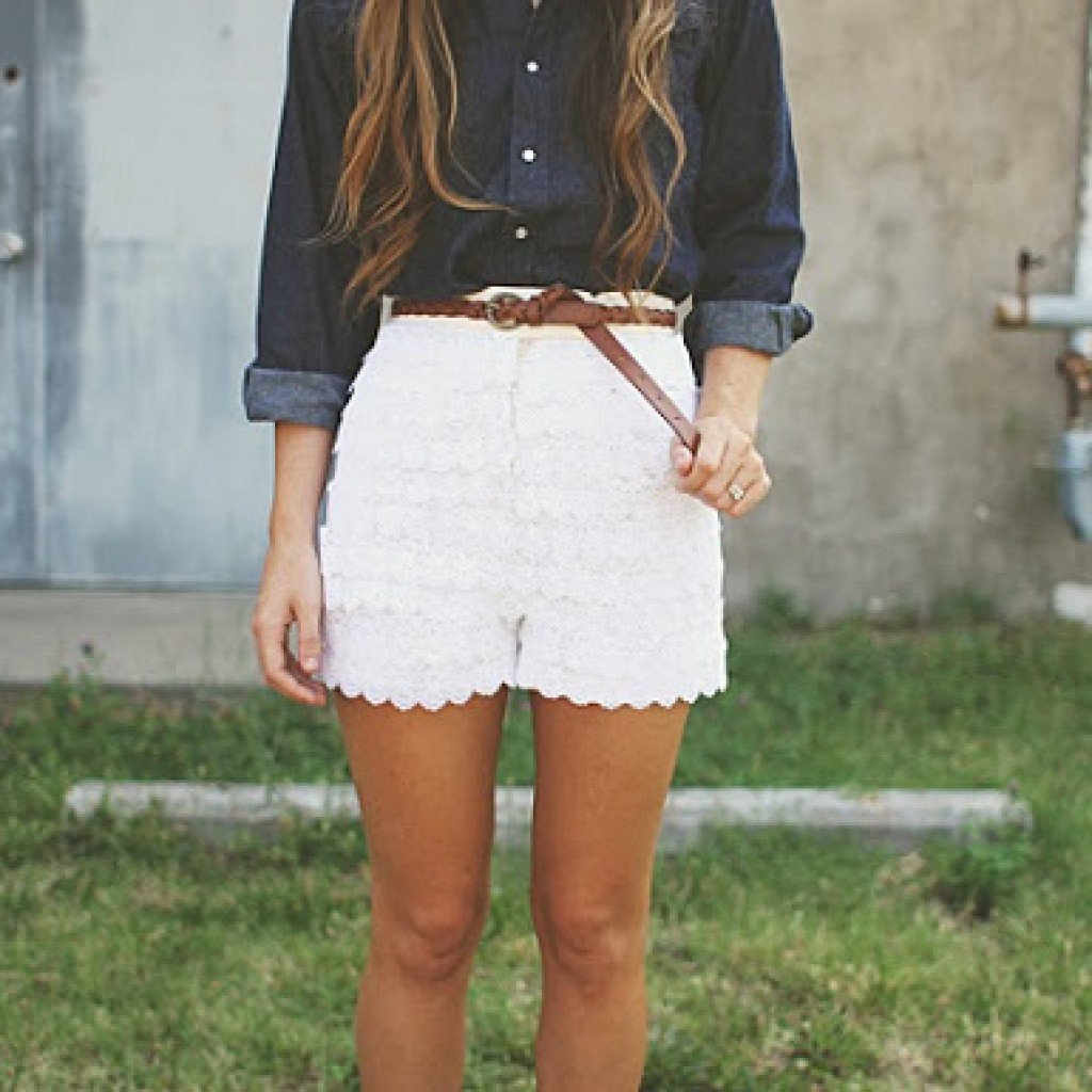 shorts-encaje