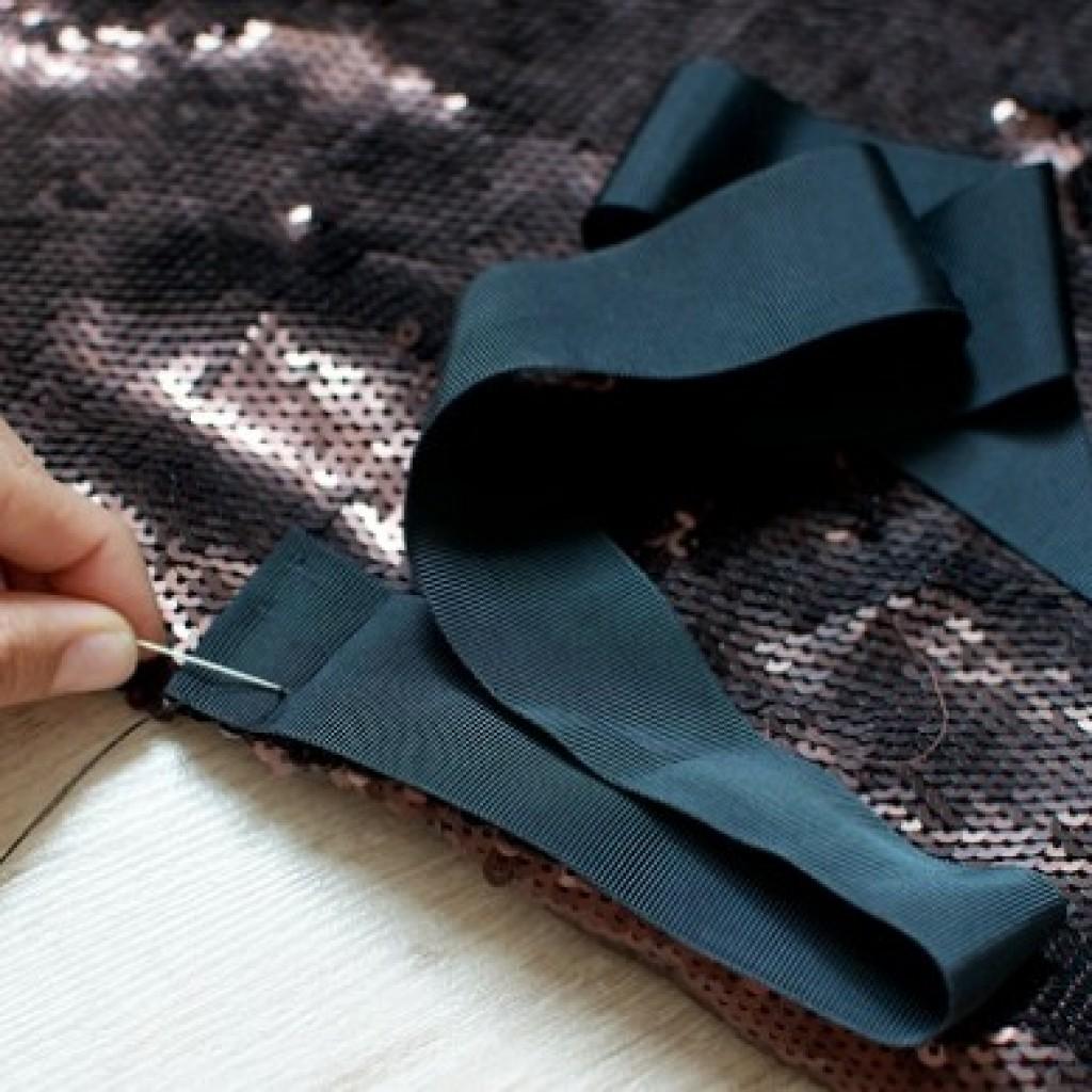 hacer-falda-cruzada-moda-lentejuelas-lazo