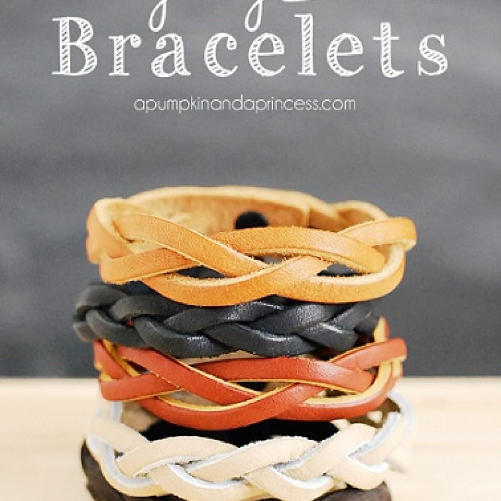 pulseras-cuero-trenzadas