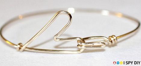brazalete moda alambre pulsera