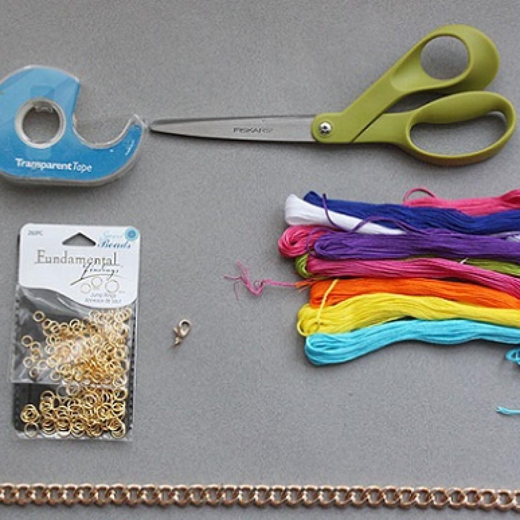 como-hacer-pulsera-eslabones-hilo-materiales