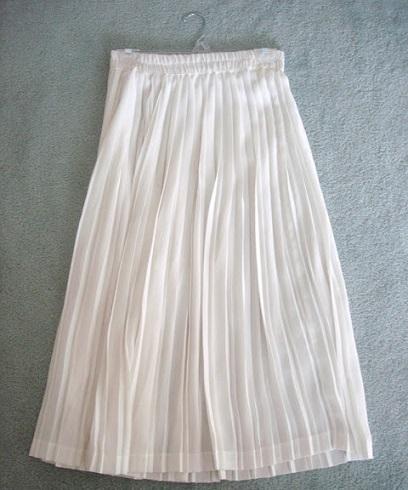 falda larga plisada vestido
