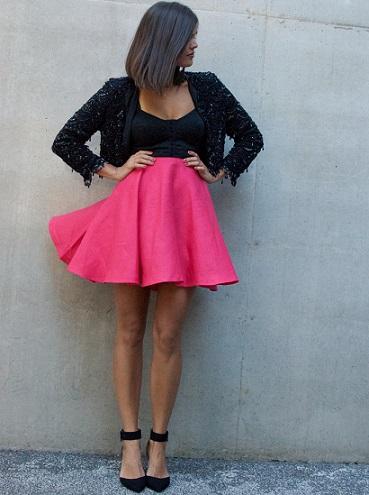 ejemplo de falda con vuelo de moda casera