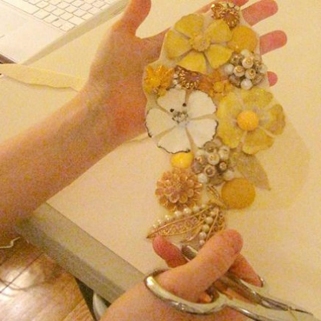 collar-flores-casero-cortar
