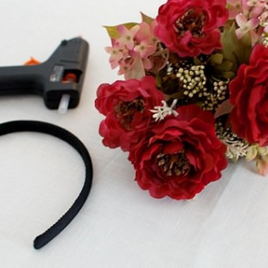 diadema-flores-casera-materiales