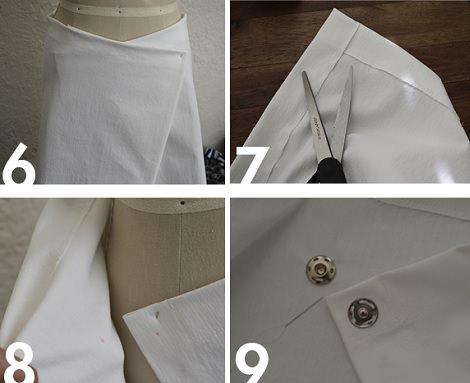 falda cruzada poner corchete