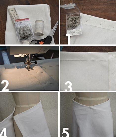 falda cruzada con dobladillo