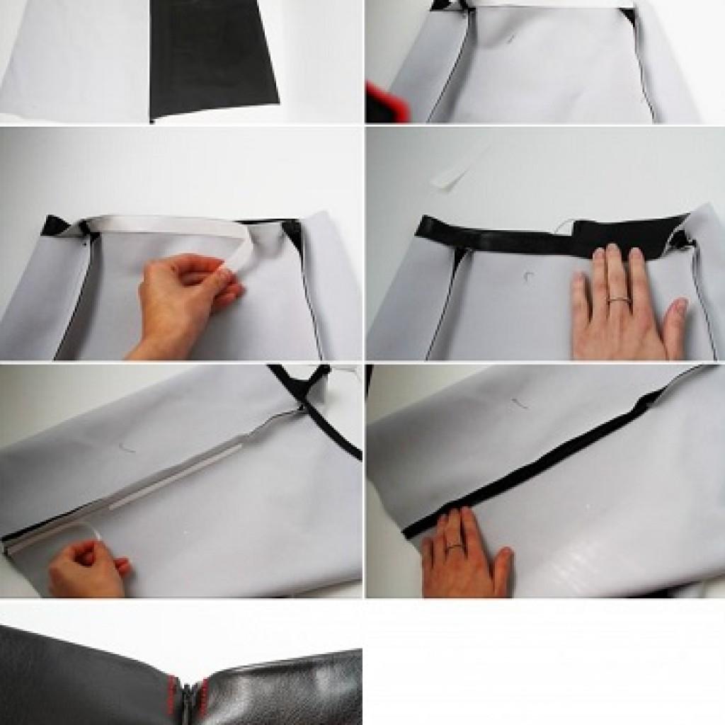 falda-tubo-piel-casera-cinta-adhesiva