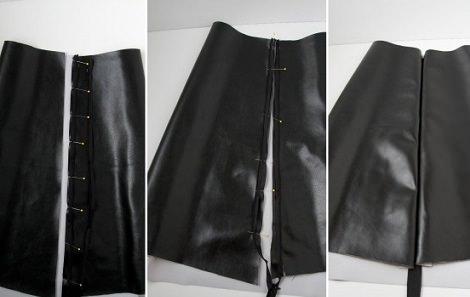 falda de tubo casera medida