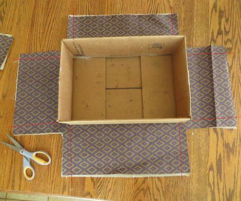 Cajas forradas diy todocaserodiy - Como forrar un armario con tela ...