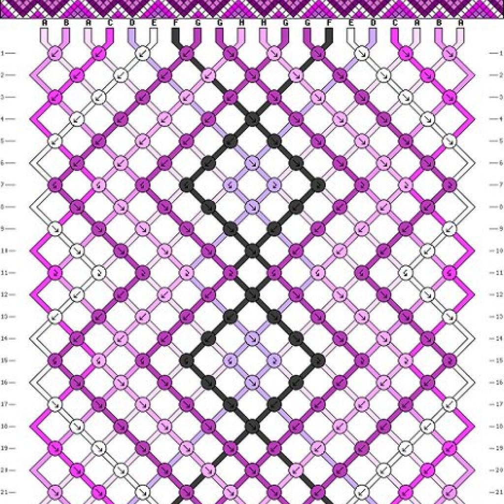 5-patrones-pulseras-hilo-macrame-rombos