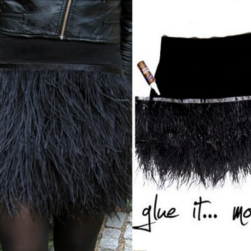 hacer-falda-plumas-fiesta-casera