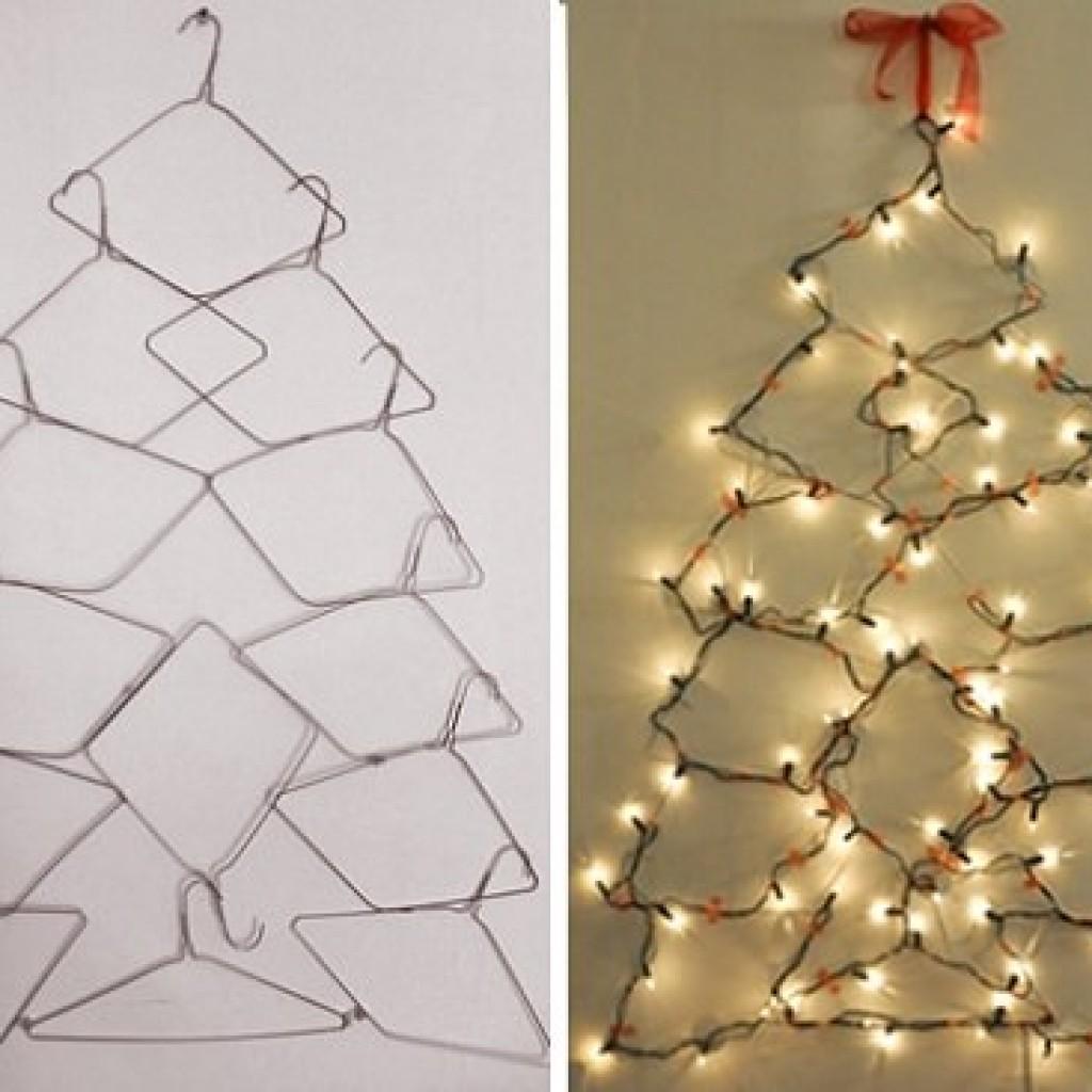 Ideas caseras decoracion navidad perchas ideas diy - Decoracion de navidad casera ...