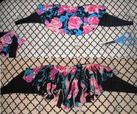 bikini  cortar flecos