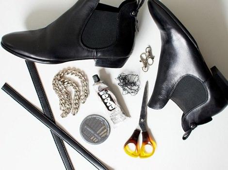 materiales botas cadenas
