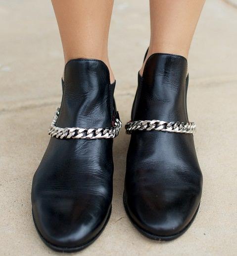 como hacer unas botas con cadena de moda