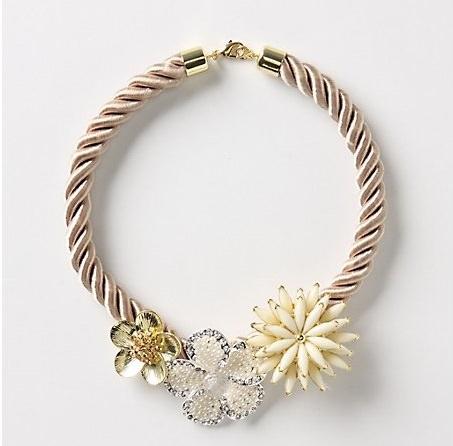 collar reciclado diy flores