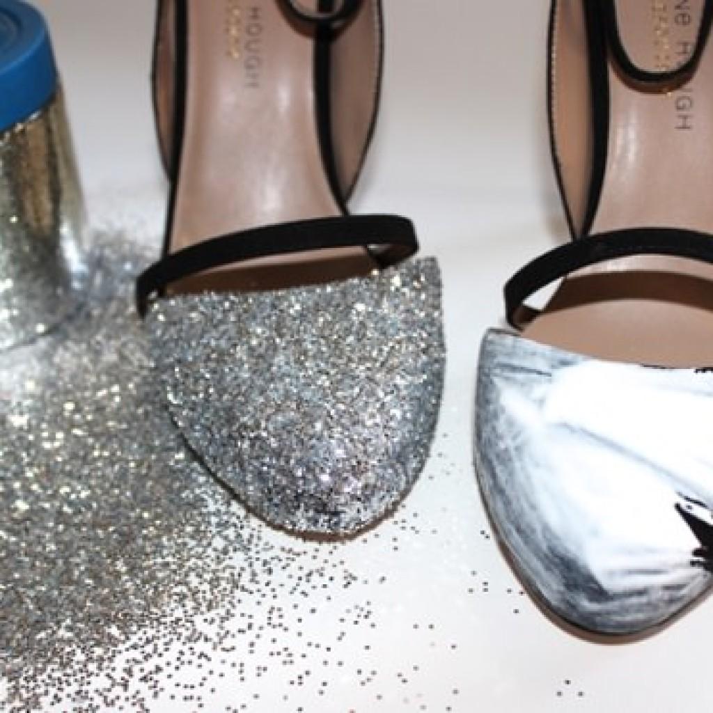 decorar-zapatos-viejos-fiesta-pegamento