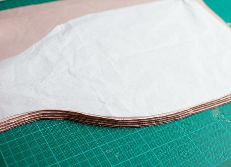 cortar piezas de la falda