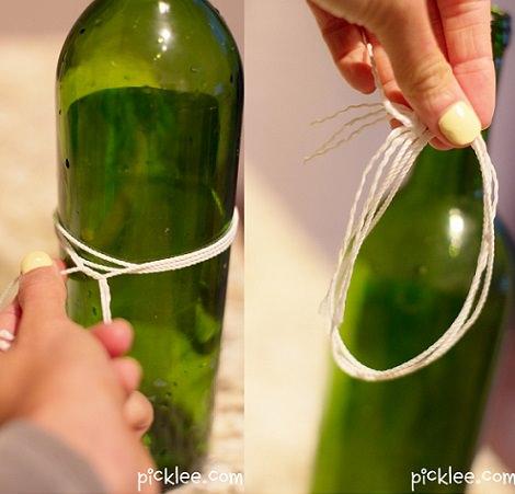 hacer jarron con una botella