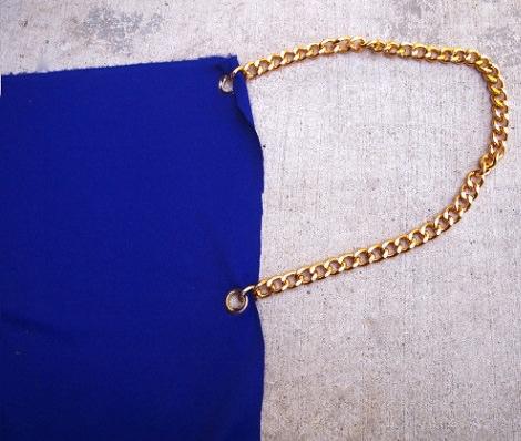 cadena vestido pareo