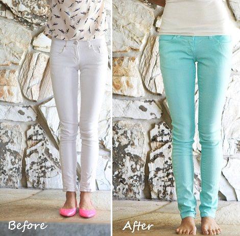cómo teñir pantalones