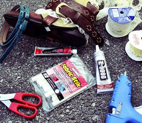 materiales para hacer unas botas