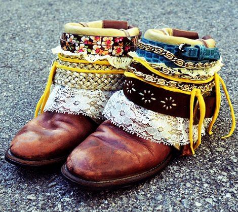 botas estilo étnico caseras