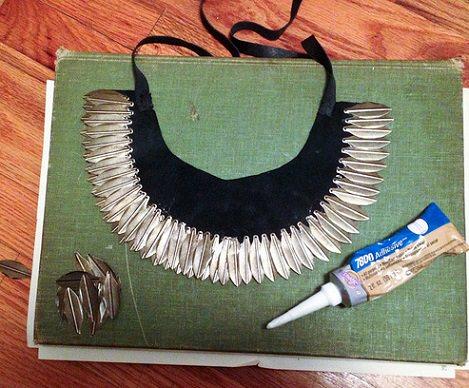 collar étnico pegar plumas