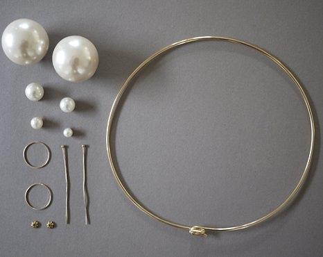 materiales collar perlas