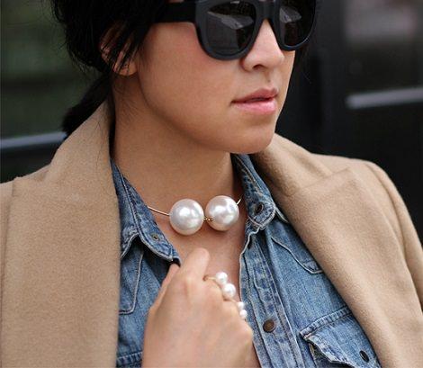 collar anillo y pulsera estilo chanel