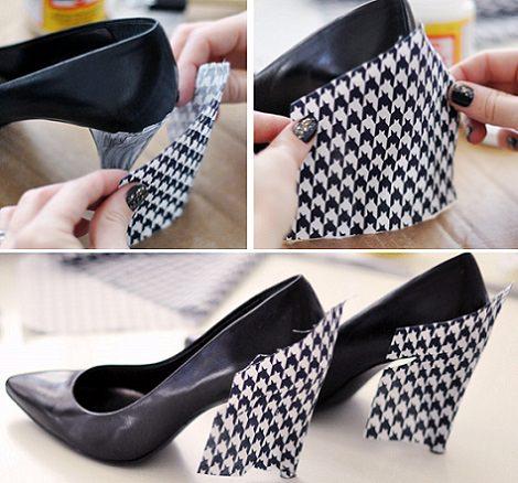 Paso a paso c mo forrar los zapatos de tac n que ya no usas - Forrar cajas de carton con telas ...