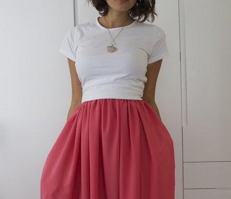 cintura de la falda larga