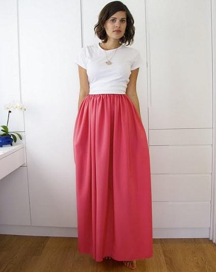 cómo hacer una falda larga