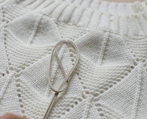hacer un jersey con flecos